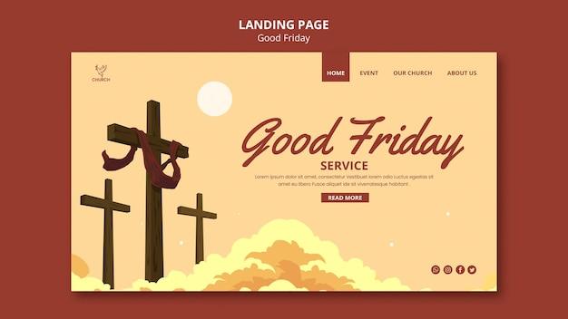 Good friday social landing page