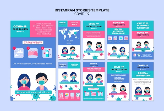 Good to know facts about coronavirus instagram stories Free Psd
