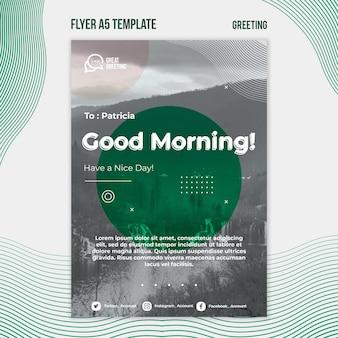 Good morning flyer template