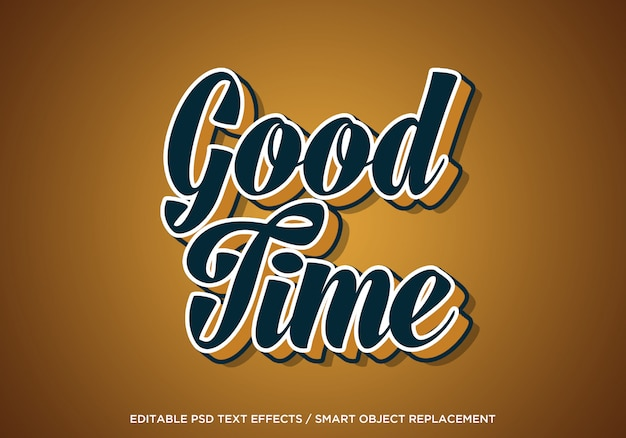 Good time editable text effect