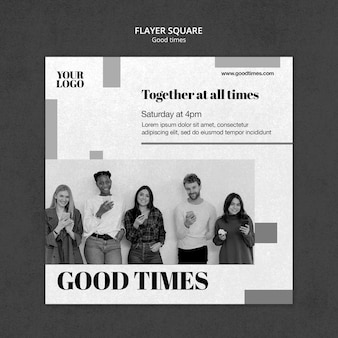 Good times flyer template