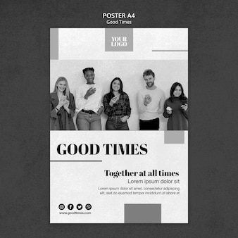 Good times poster with photo