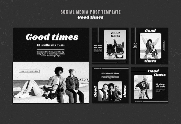 Good times social media post template