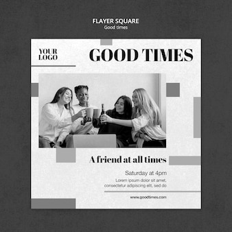 Good times squared flyer template