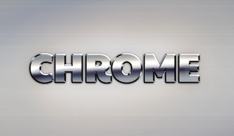 Google Chrome metal text effect