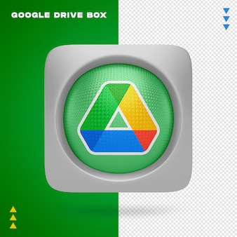 Google drive box in 3d renderin isolated