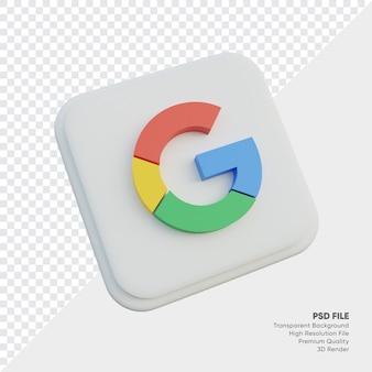 고립 된 둥근 모서리 사각형에서 구글 아이소메트릭 3d 스타일 로고 개념 아이콘