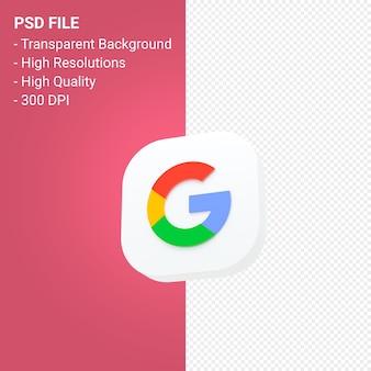 Изолированный рендеринг 3d значка логотипа google