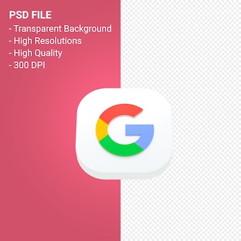 Google logo 3d icon rendering isolated