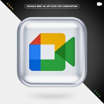 Google meet icon isolated