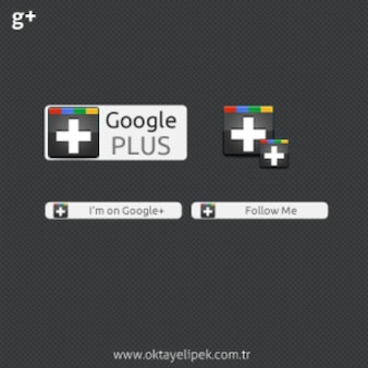Google plus web elements psd