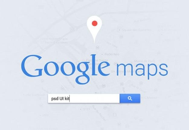 Googleマップのユーザーインターフェイス