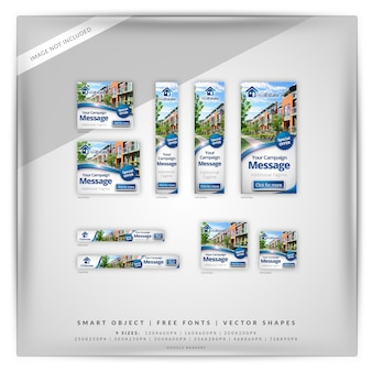 Google баннер набор недвижимости