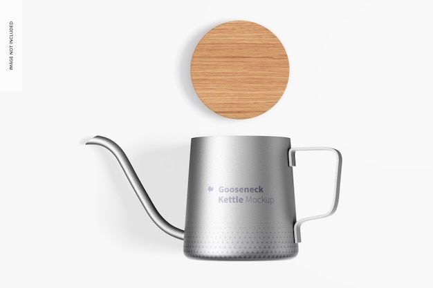 Макет чайника на гусиной шее, вид сверху