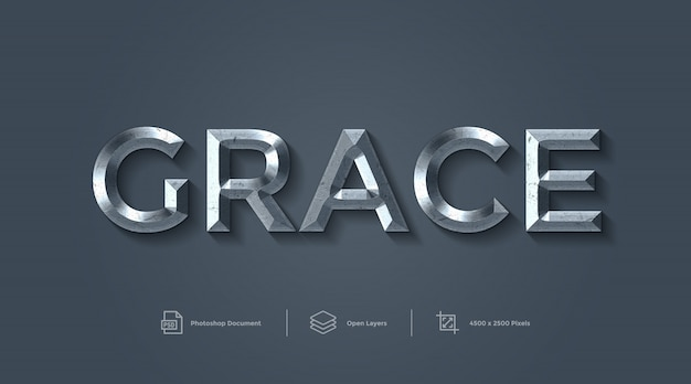 Grace text effect design layer style effect