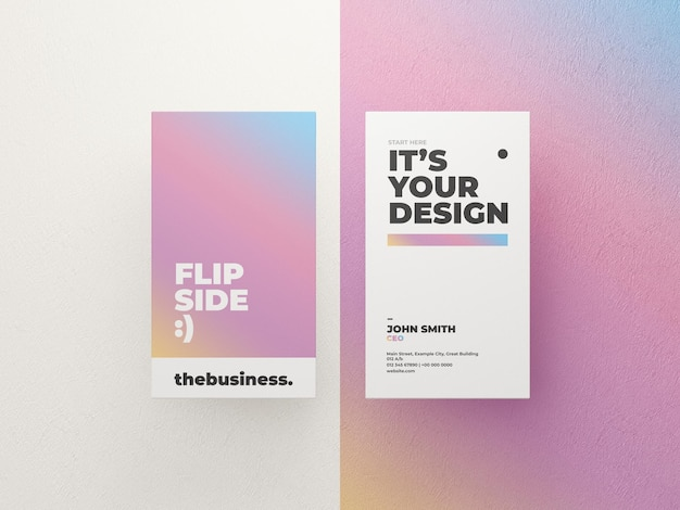 Gradient business card mockup template