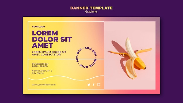 Gradient design banner template