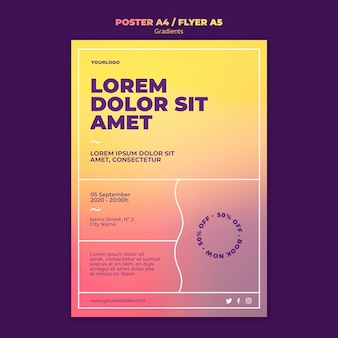 Gradient design flyer template