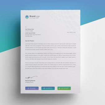 편지지 템플릿-구배 프리미엄 PSD 파일