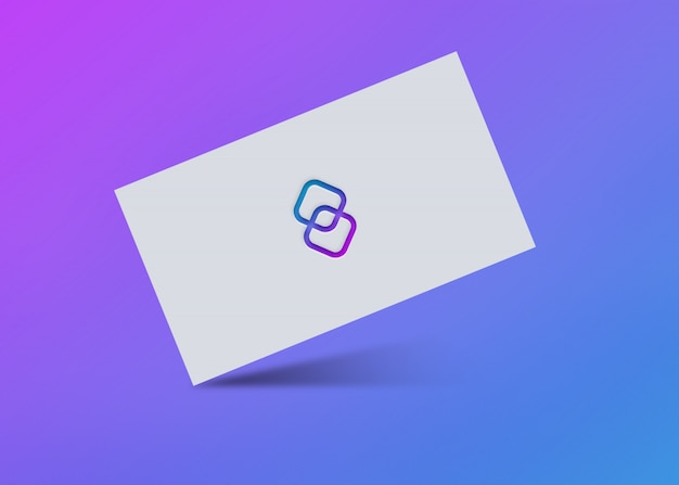 グラデーションロゴのモックアップデザイン