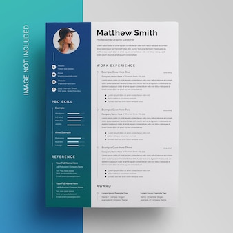 Gradient sidebar resume template
