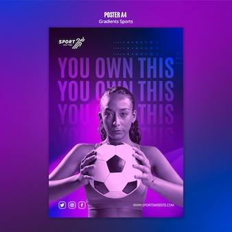 Gradient sport poster template theme