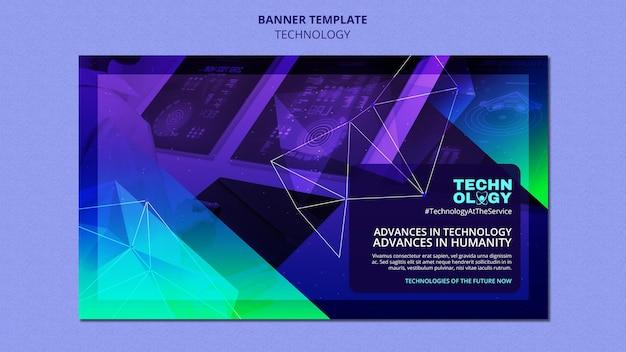 Modello di banner con tecnologia gradiente Psd Gratuite