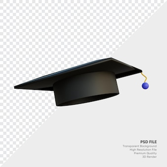 졸업 모자 3d 일러스트레이션