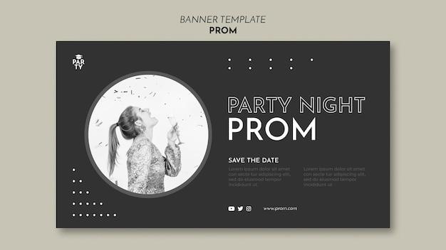 Graduation prom banner template