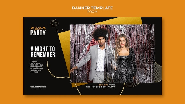 Graduation prom banner template