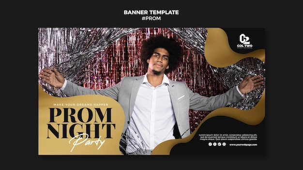 Graduation prom party banner template