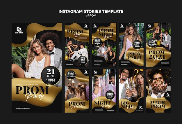 Graduation prom party instagram stories template