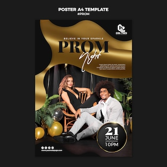 Graduation prom party poster template