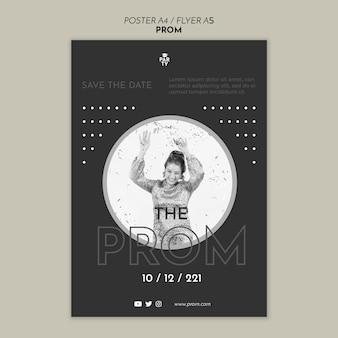 Graduation prom poster template