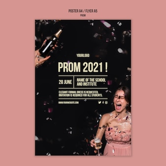 Graduation prom print template