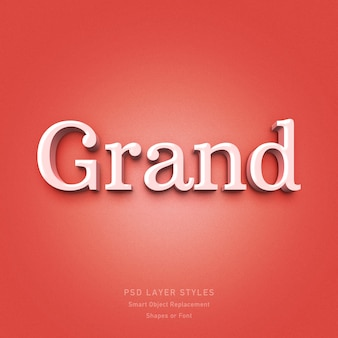 Grand 3d text style effect psd