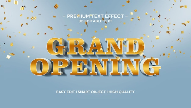 Grand opening 3d text effect
