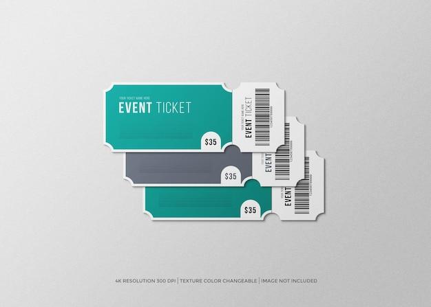그랜드 오프닝 이벤트 티켓 모형