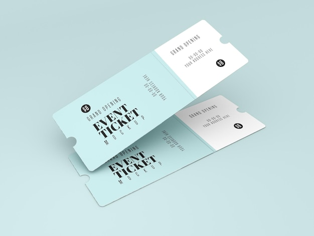 Grand opening event ticket mockup
