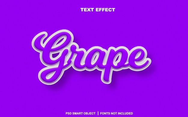 Текстовый эффект винограда. редактируемый текстовый смарт-объект