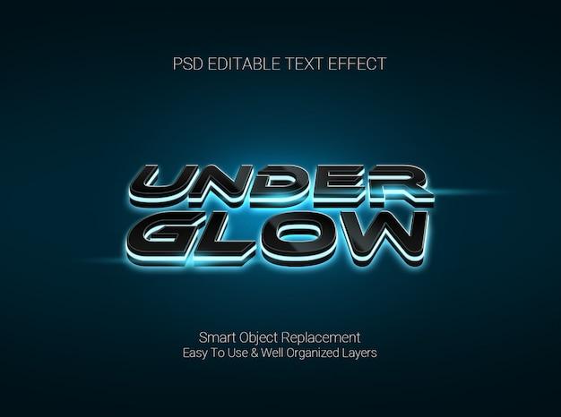 Программное обеспечение для графического дизайна редактируемый текстовый эффект с подсветкой под стиль текста