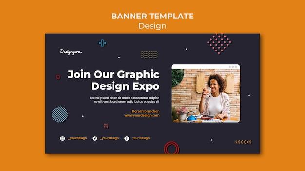 写真付きのグラフィック デザイン バナー テンプレート