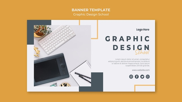 Graphic design banner template