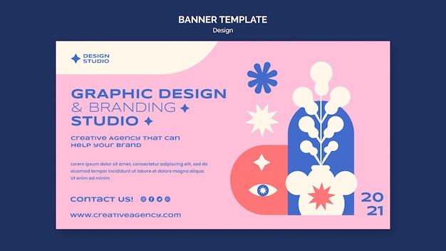 Шаблон графического дизайна баннера