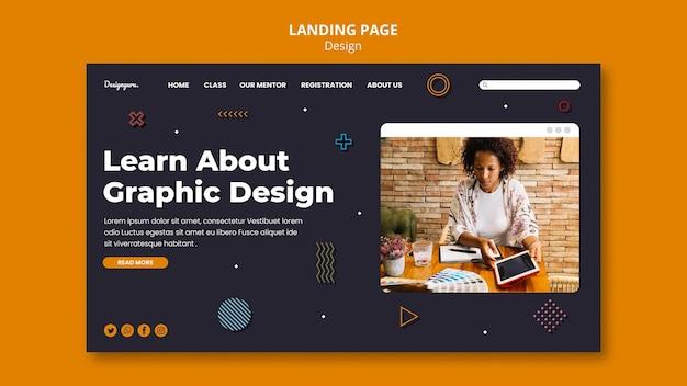 Шаблон целевой страницы графического дизайна