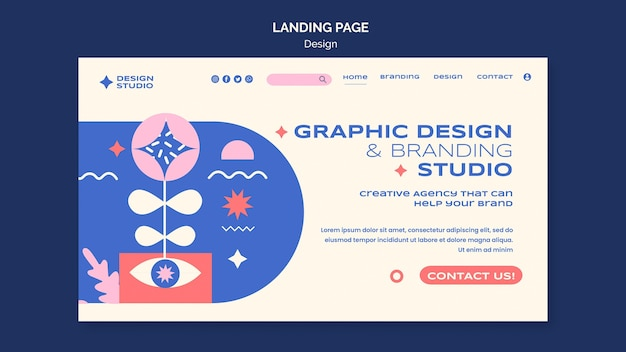 그래픽 디자인 방문 페이지