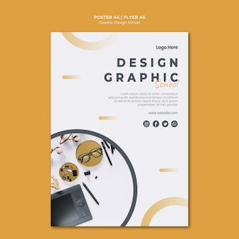 Graphic design poster template
