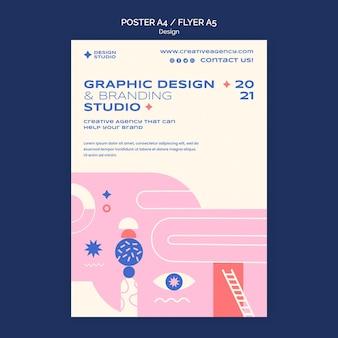 그래픽 디자인 포스터 템플릿