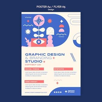 Шаблон плаката графического дизайна