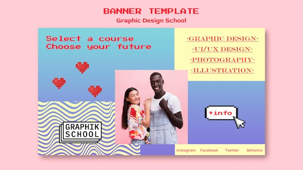 Graphic design school banner